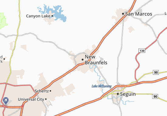 Mappe-Piantine New Braunfels