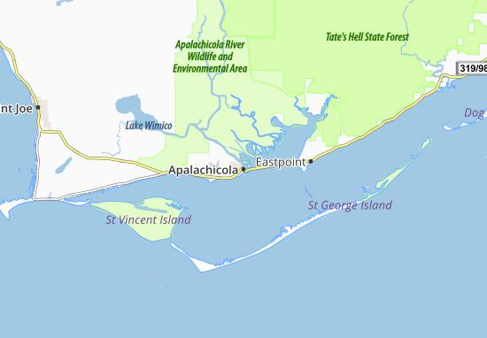 Apalachicola Map