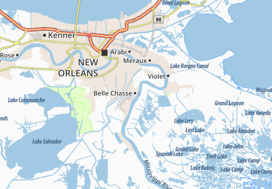 Belle Chasse Map