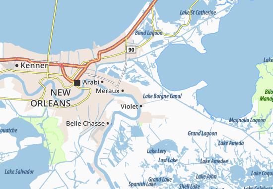 Meraux Map