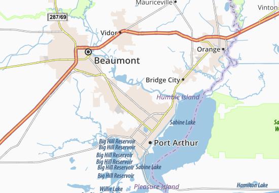 Carte-Plan Port Neches