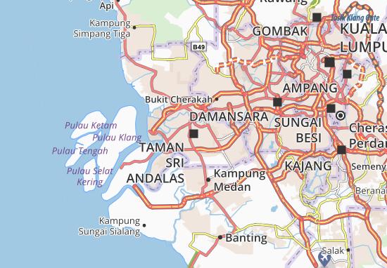Kaart Plattegrond Taman Sri Andalas