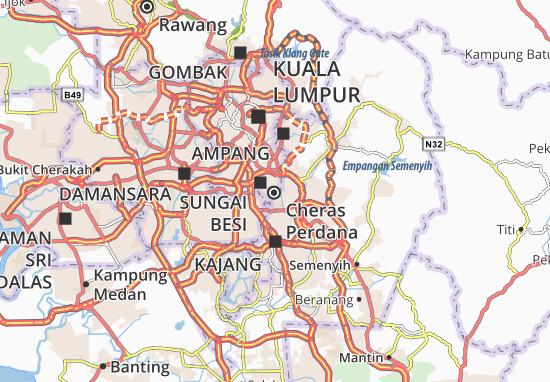 Cheras Batu 9 Map: Detailed maps for the city of Cheras Batu 9 ...