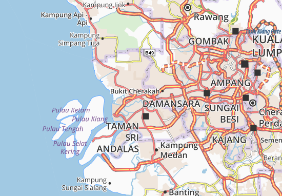 Kaart Plattegrond Kampung Batu Kapar