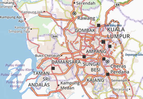 Mappe-Piantine Damansara
