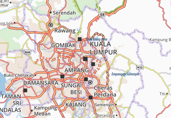 Kuala Lumpur Map: Detailed maps for the city of Kuala Lumpur ... on bangkok map, cheras map, maldives map, singapore map, beijing map, pyongyang map, thailand map, batu caves, malaysia map, phuket map, abu dhabi, dubai map, seoul map, tokyo map, indonesia map, asia map, petronas twin towers, taipei map, selangor map, jakarta map, ho chi minh city, auckland map, phnom penh, manila map, hong kong map,