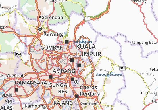 Mapa Plano Taman Setiawangsa