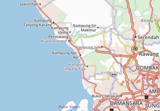 Mapas-Planos Kampung Api - Api