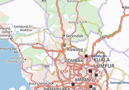 Kaart Plattegrond Rawang