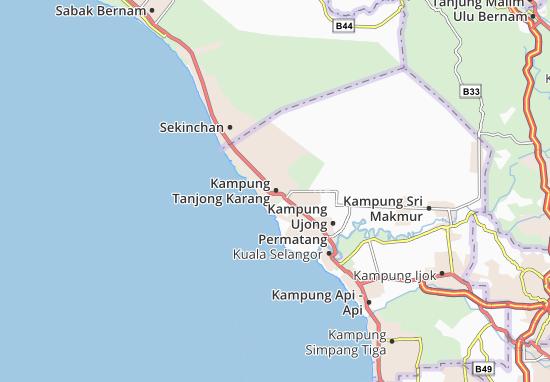 Kaart Plattegrond Kampung Tanjong Karang