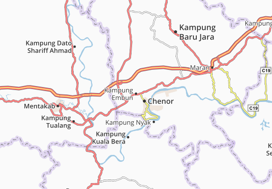 Kaart Plattegrond Kampung Embun
