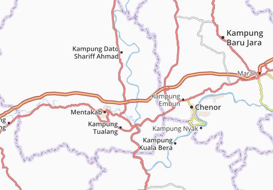 Kaart Plattegrond Kampung Sanggang