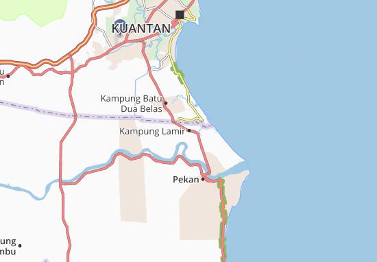 Kaart Plattegrond Kampung Lamir