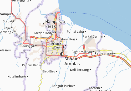 Carte-Plan Percut Sei Tuan 1