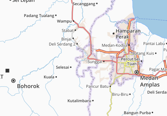 Map Of Binjai Kota Michelin Binjai Kota Map Viamichelin