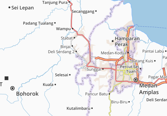 Map Of Binjai Utara Michelin Binjai Utara Map Viamichelin