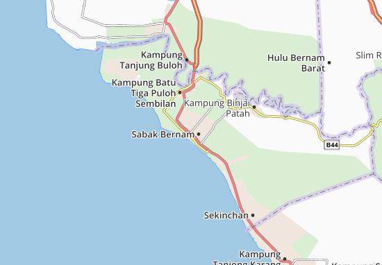 Sabak Bernam Map