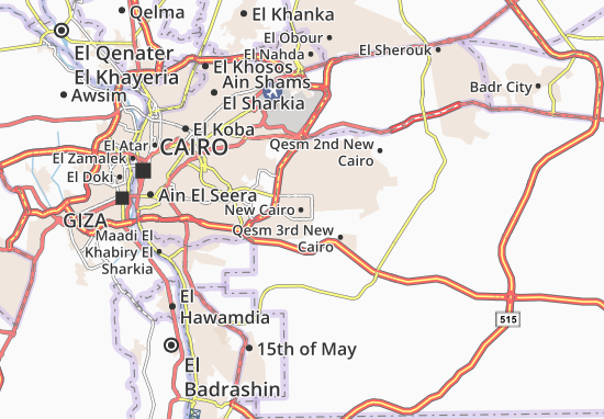 New Cairo Map: Detailed maps for the city of New Cairo - ViaMichelin
