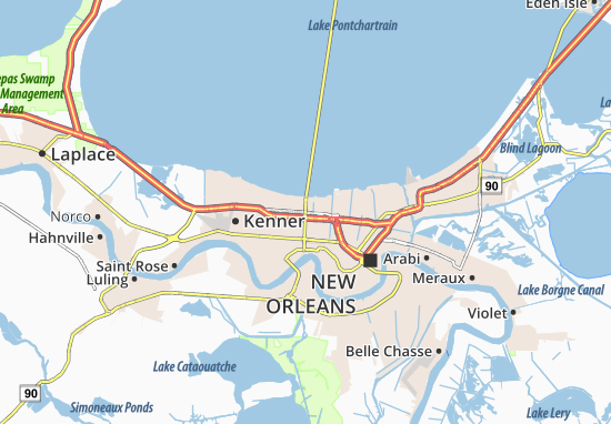 Metairie Map