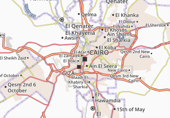 Cairo Map: Detailed maps for the city of Cairo - ViaMichelin