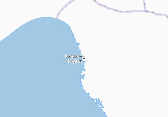 Mapas-Planos Bandar-e Deylam