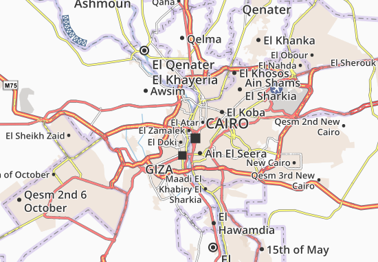 El Zamalek Map: Detailed maps for the city of El Zamalek - ViaMichelin