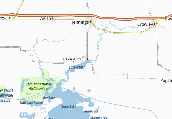 Lake Arthur Map