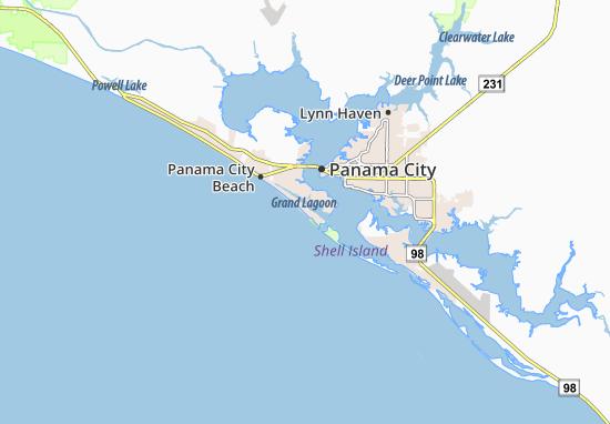 Lower Grand Lagoon Map