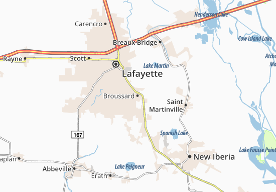 Broussard Map