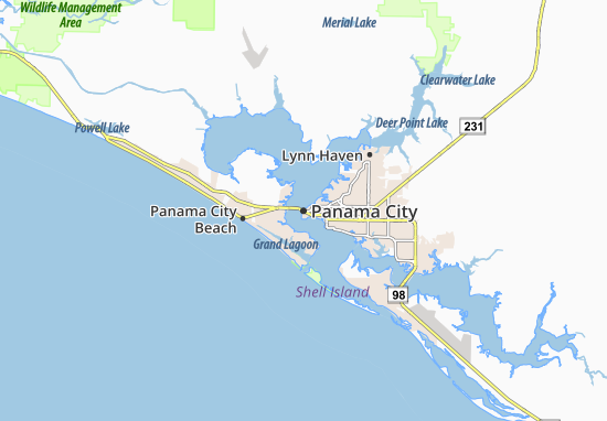 Map of Panama City - Michelin Panama City map - ViaMichelin
