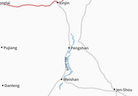 Mapas-Planos Pengshan