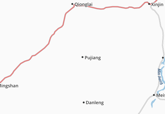 Pujiang Map