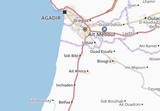 Mapa Plano Sidi Bibi