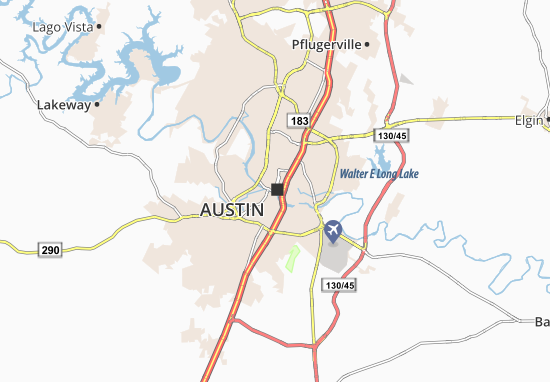 Map of Austin Michelin Austin map ViaMichelin – Tourist Attractions Map In Austin