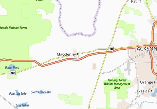 Kaart Plattegrond Macclenny