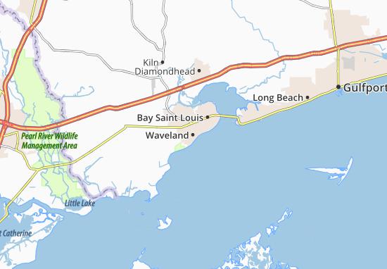 Waveland Map