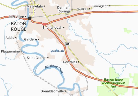 Mappe-Piantine Prairieville