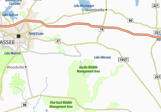 Wacissa Map