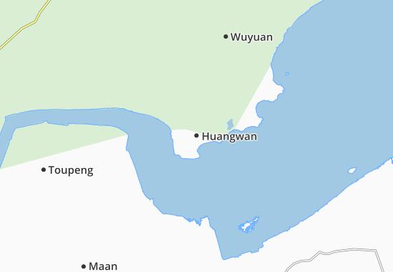 Kaart Plattegrond Huangwan