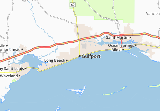 Mappe-Piantine Gulfport