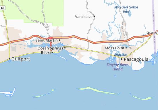 Kaart Plattegrond Gulf Park Estates