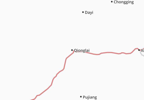 Qionglai Map