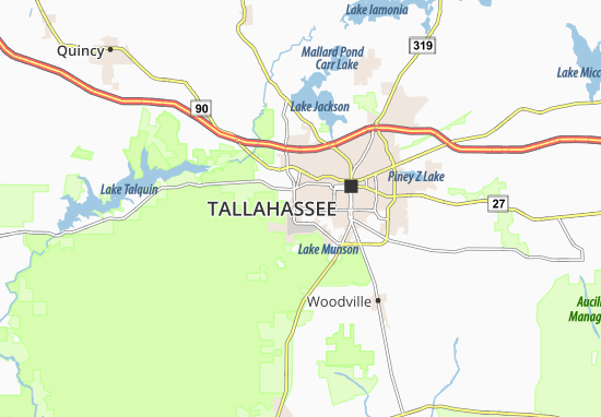 Map of Tallahassee Southwest - Michelin Tallahassee Southwest map ...