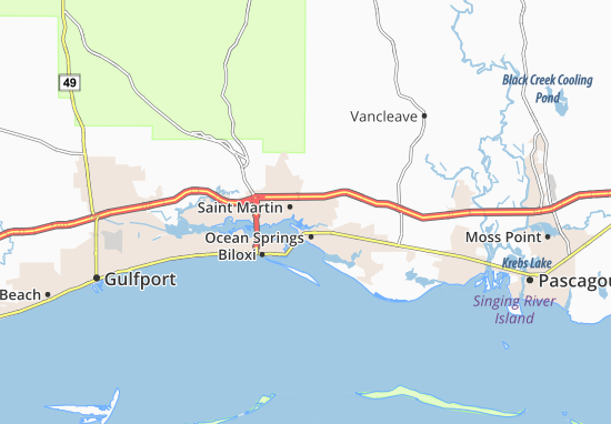 Carte-Plan Gulf Hills