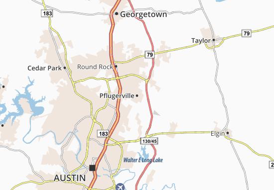 Pflugerville Map
