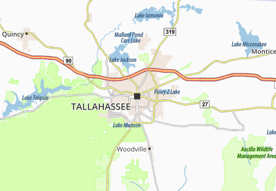 Tallahassee Map: Detailed maps for the city of Tallahassee - ViaMichelin