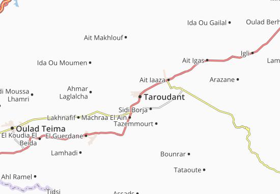 Mapa Taroudant