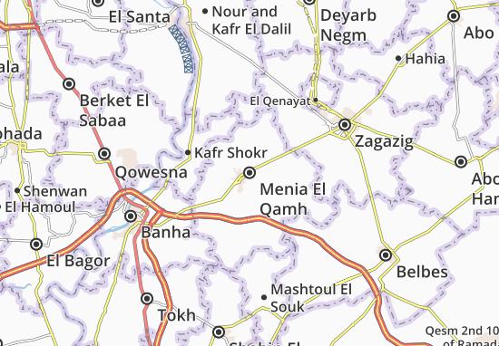 Mapas-Planos Menia El Qamh
