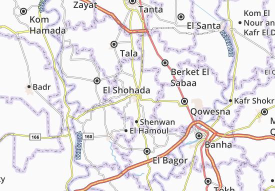 Shebin El Kom Map: Detailed maps for the city of Shebin El ...