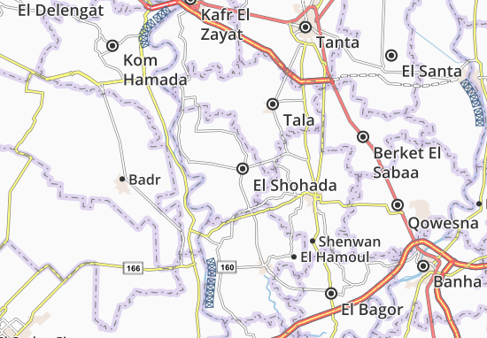 El Shohada Map